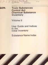 Toxic Substances Control Act (TSCA) Chemical Substance Inventory: Substance name index to the initial inventory