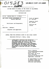 California. Supreme Court. Records and Briefs: S028700, Petition for Review