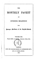 THE MONTHLY PACKET OF EVENING READINGS FOR YOUNGER MEMBERS OF THE ENGLISH CHURCH PDF