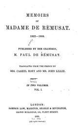 Memoirs, 1802-1808: Volume 1