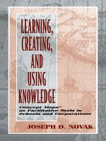 Learning  Creating  and Using Knowledge PDF