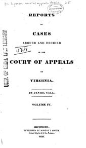 Cases Decided in the Supreme Court of Appeals of Virginia: Volume 8