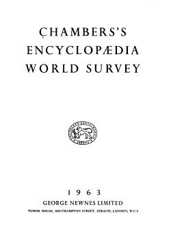 Chambers s Encyclopaedia World Survey PDF