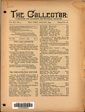 The Collector: A Monthly Magazine for Autograph and Historical Collectors, Volume 12, Issue 4