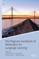 The Palgrave Handbook of Motivation for Language Learning PDF