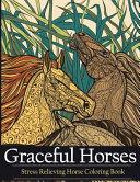 Adult Coloring Book Graceful Horses