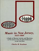 Music in New Jersey  1655 1860 PDF