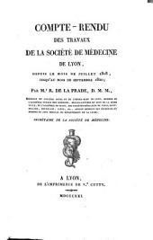 Compte-rendu des travaux de la Société de médecine de Lyon depuis le mois de juillet 1818, jusqu'au mois de septembre 1820