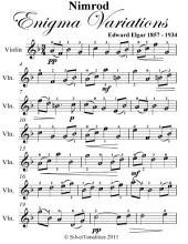 Nimrod Enigma Variations Easy Violin Sheet Music