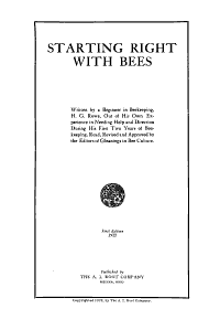 Starting Right with Bees PDF