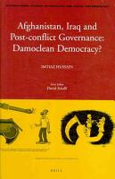 Afghanistan  Iraq and Post conflict Governance PDF