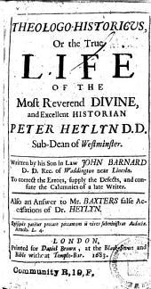 Theologo-Historicus, etc
