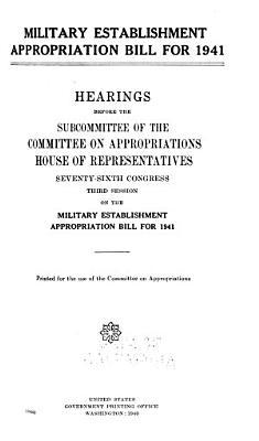 Senate Amendments  Military Establishment Appropriation Bill for 1941