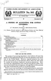 A System of Accounting for Cotton Ginneries