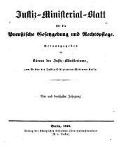 Deutsche justiz: rechtspflege und rechtspolitik ... Amtliches blatt der deutschen rechtspflege, Band 34
