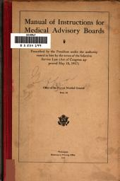 Manual of Instructions for Medical Advisory Boards