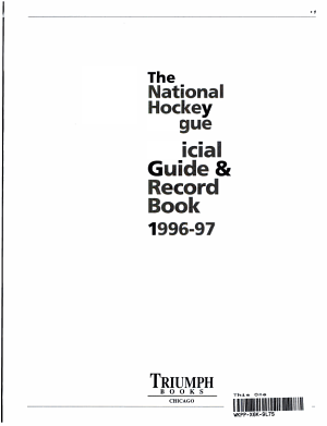 NHL Official Guide and Record Book  1996 97 PDF