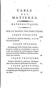 Séances, recueillies par des sténographes, et revues par les professeurs. (Leçons).