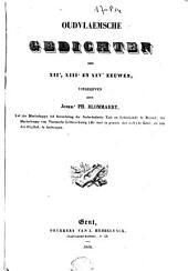 Oudvlaemsche gedichten der XIIe, XIIIe en XIVe eeuwen