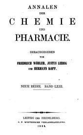 Annalen der Chemie und Pharmacie: Bände 63-64;Bände 139-140