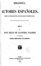 Obras de Don Diego de Saavedra Fajardo y del licenciado Pedro Fernandez Navarrete, 25