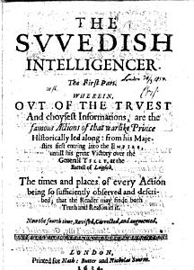 The Swedish Intelligencer  Famous Actions of that Warlike Prince PDF