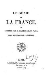 Le génie de la France, ou L'entrée de S. M. Charles X dans Paris