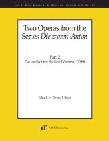Two Operas from the Series  Die zween Anton   Part 2 PDF