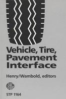 Vehicle  Tire  Pavement Interface PDF