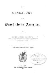 The Genealogy of the Benedicts in America: Volume 2
