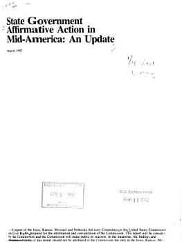State Government Affirmative Action in Mid America PDF