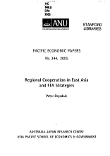 Regional Cooperation in East Asia and FTA Strategies PDF