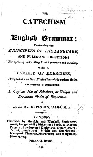 The Catechism of English Grammar  Etc