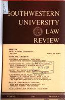 Southwestern university law review PDF