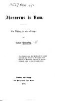 Ahasverus in Rom  Eine Dichtung in sechs Ges  ngen PDF