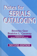 Notes for Serials Cataloging PDF