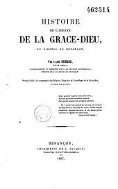 Histoire de l'abbaye de Grâce-Dieu, au diocèse de Besançon