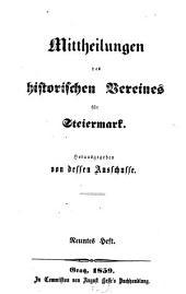 Mittheilungen des Historischen Vereines für Steiermark: Band 9