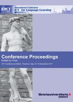 Conference proceedings  ICT for language learning  10th Edition PDF