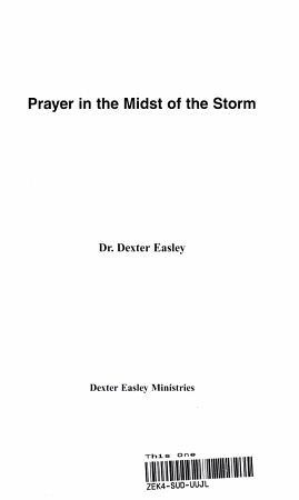 Prayer in the Midst of the Storm PDF