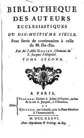 Bibliotheque des auteurs ecclesiastiques du 18. siecle: Volume2