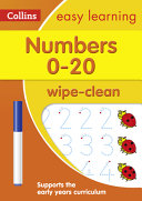 Numbers 0 20  Wipe Clean Activity Book