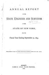 Annual Report of the State Engineer and Surveyor for the Year[s] ...