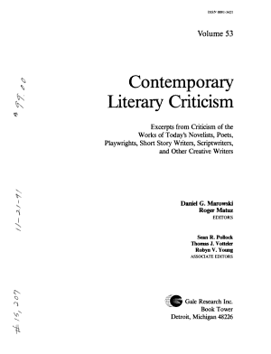 Contemporary Literary Criticism PDF