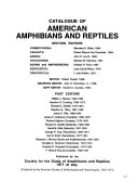 Catalogue of American Amphibians and Reptiles PDF