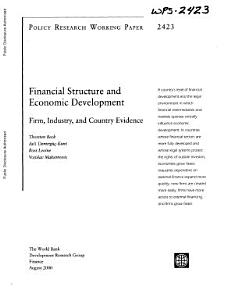 Financial Structure and Economic Development PDF