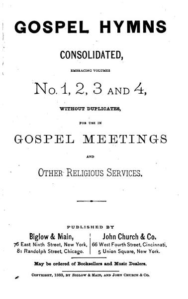 Download Gospel Hymns Consolidated Book