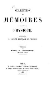 Collection de memoires relatifs a la physique: Volumes2à3
