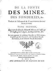 De la fonte, des mines, des fonderies, &c: Volume1