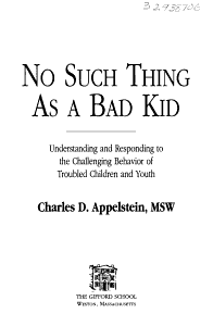 No Such Thing as a Bad Kid Book
